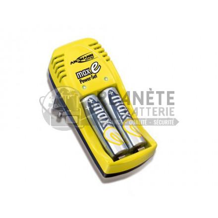Chargeur de piles AA et AAA NiMH ou NiCd – 2 AAA 800mAh incluses – ANSMANN
