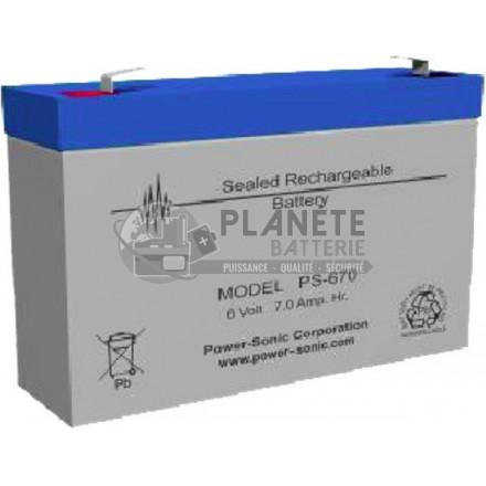 Batterie Plomb étanche 6V 7.7Ah VRLA AGM