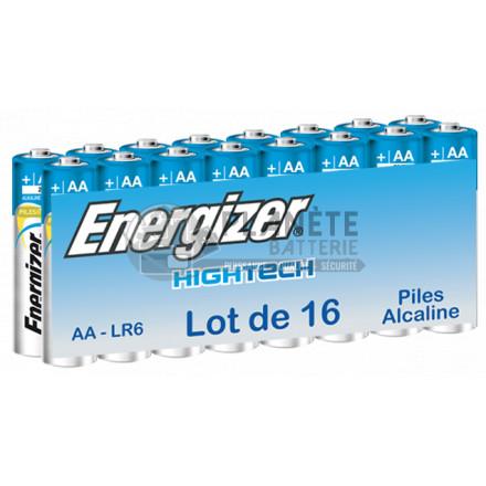 Pack 16 piles AA - LR6 -1.5V Alcaline High Tech - ENERGIZER
