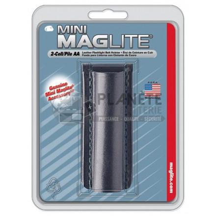 Etui de ceinture en cuir noir pour torche MAGLITE mini R6