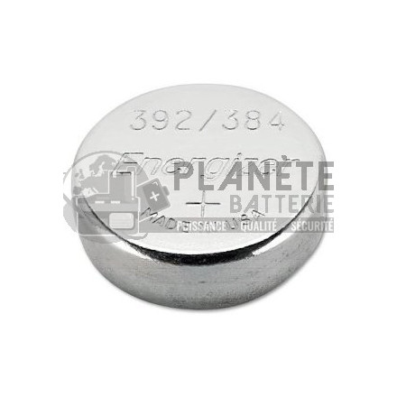 Pile bouton - Oxyde d'argent 392 - 384 - SR41 - 1.55V - ENERGIZER