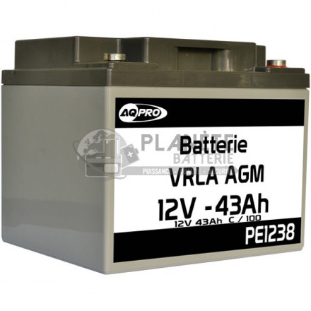 Batterie Plomb étanche 12V 43Ah VRLA AGM